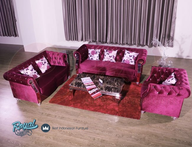 set sofa tamu minimalis modern mewah terbaru royal