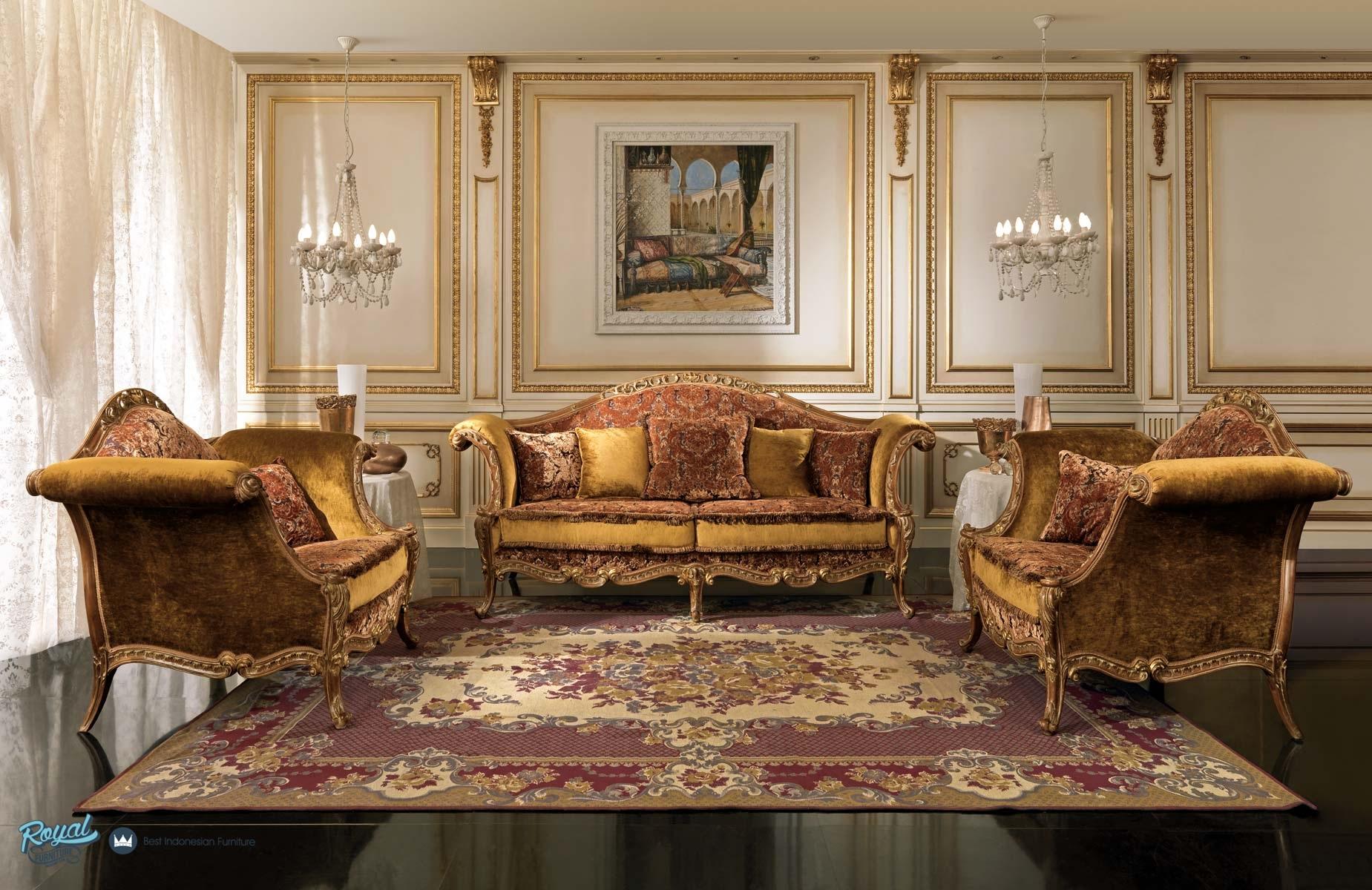 Sofa ruang tamu set mewah jepara klasik terbaru royal for Sofa klasik