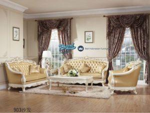 Set Sofa Tamu Mewah Ukir Jepara Terbaru White