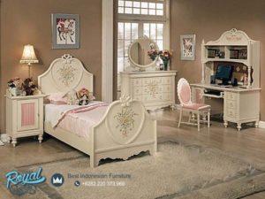 Tempat Tidur Jepara Anak Perempuan Mewah Terbaru Cantik