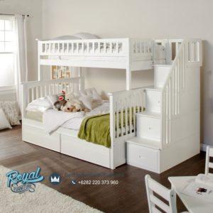 Tempat Tidur Anak Tingkat Minimalis Modern Terbaru White