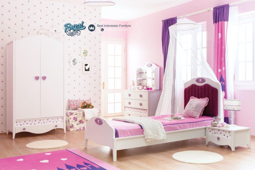 tempat tidur anak perempuan murah terbaru princess royal