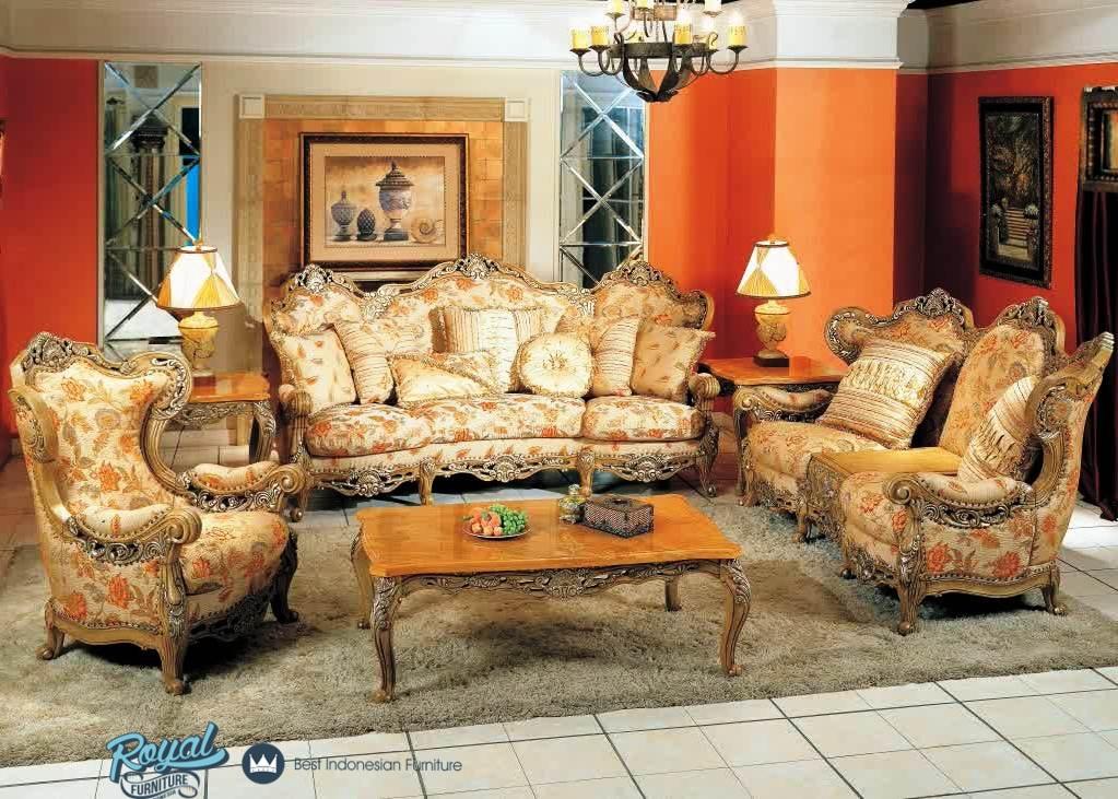 Sofa Ruang Tamu Jepara Ukiran Klasik Mewah Terbaru Vintage Royal