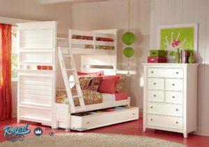 Set Tempat Tidur Tingkat Minimalis Terbaru Dixie Twin