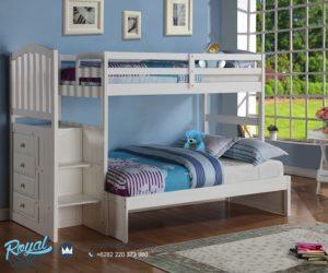 Tempat Tidur Anak Tingkat Terbaru Cute White
