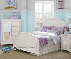 Set Kamar Tidur Anak Modern Putih Terbaru Arched