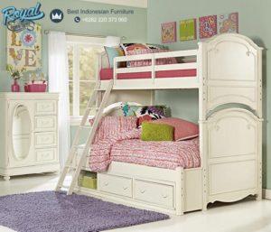 Tempat Tidur Anak Tingkat Putih Murah Terbaru Phoebe