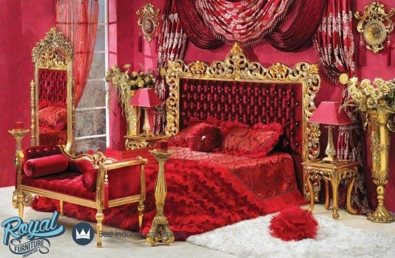 Kamar tidur pengantin merah mewah terbaru french style for Bedroom ideas red and gold