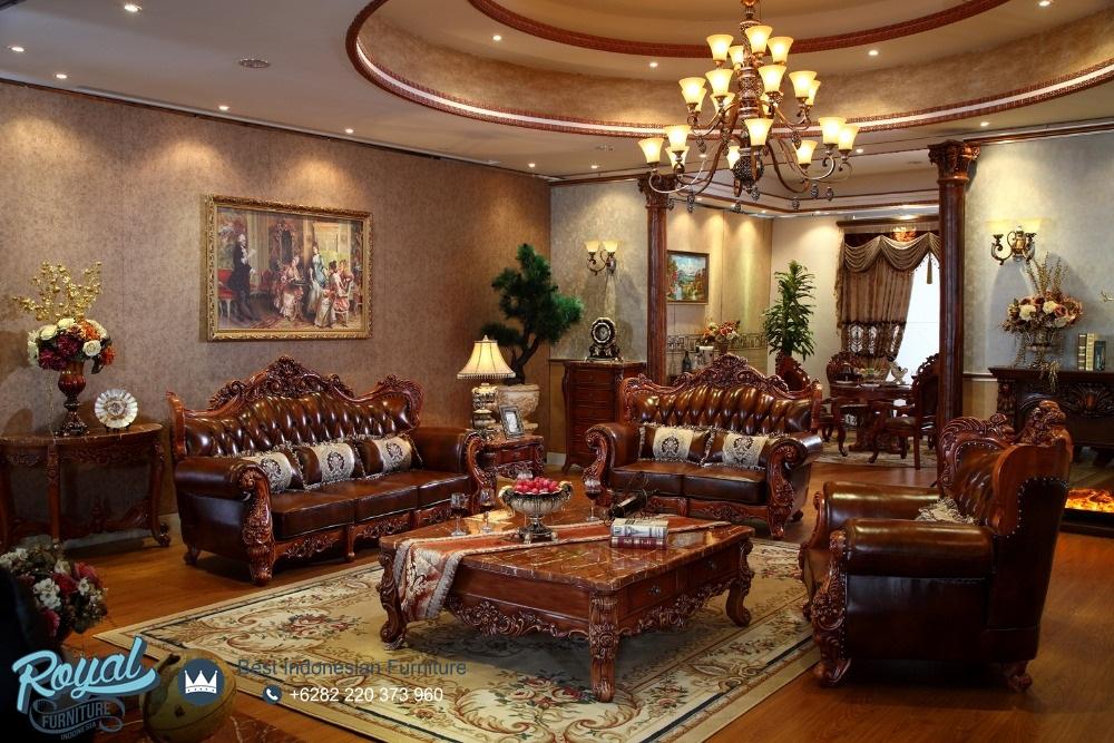 Sofa Tamu Model Eropa Mewah Terbaru Italian Style Royal
