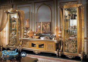 Set Bufet TV Rafles Mewah Klasik Terbaru