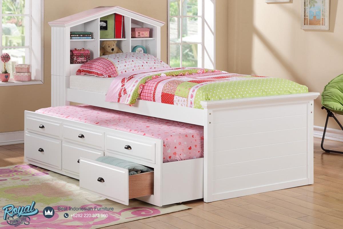 Tempat Tidur Anak Minimalis Modern Mewah Terbaru Twin Bed Royal
