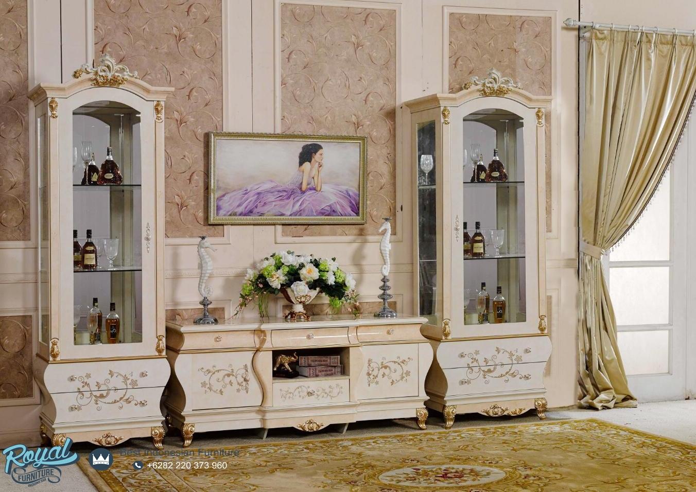 Bufet Tv Set Modern Mewah Terbaru Teodora Royal Furniture Indonesia # Teodora Muebles