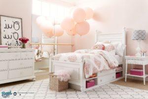 Set Tempat Tidur Anak Minimalis Modern Model Terbaru White