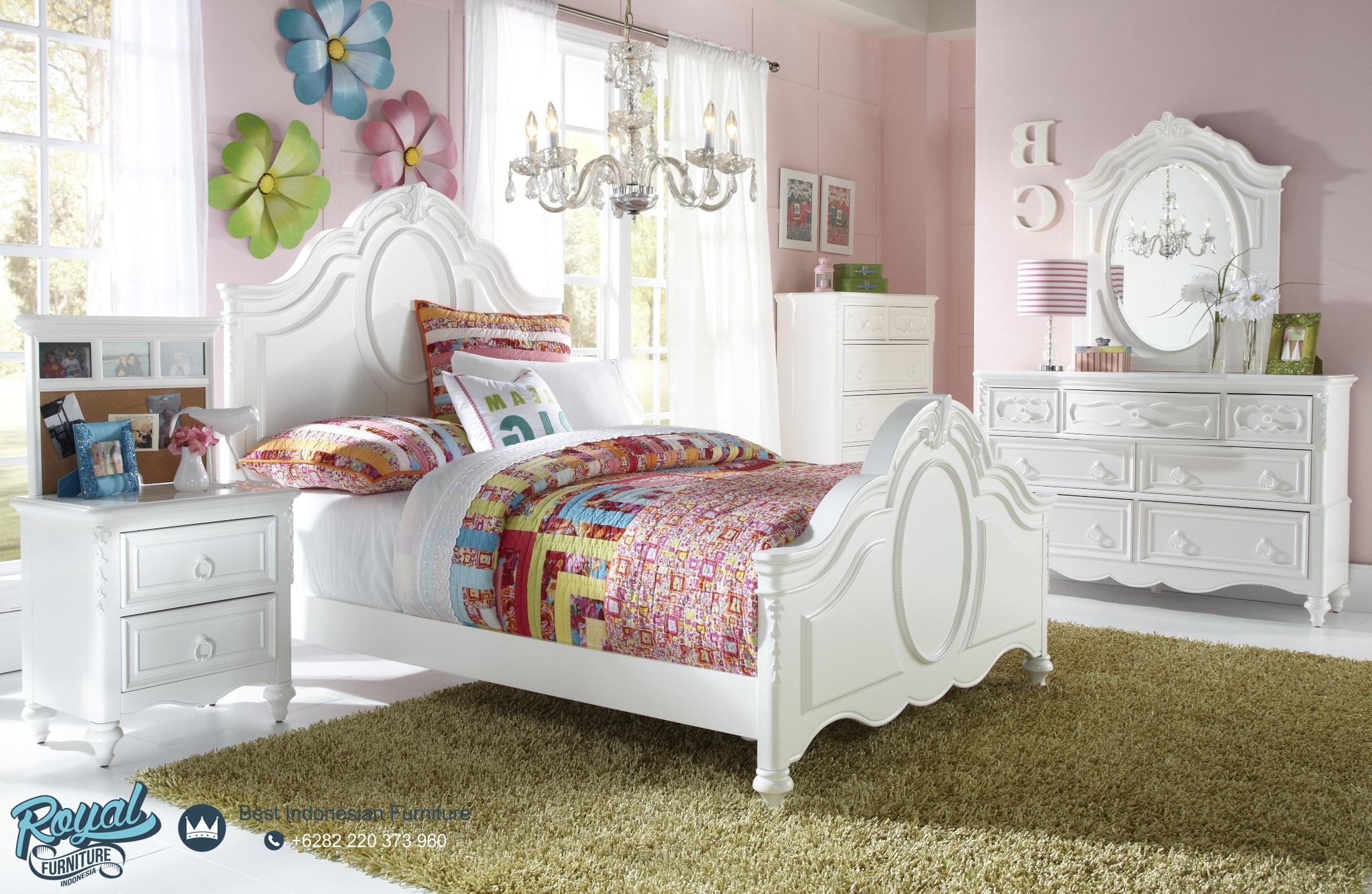 Tempat Tidur Anak Putih Minimalis Modern Terbaru Lawrence Royal
