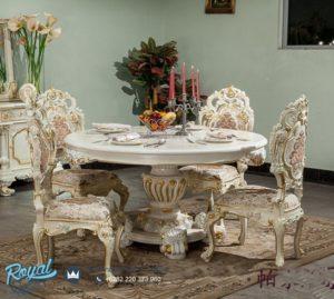 Set Meja Makan Bundar Model Italia Mewah Terbaru Baroque