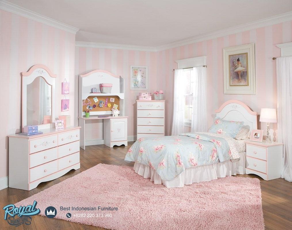 kamar tidur anak perempuan minimalis elegan terbaru pink   royal