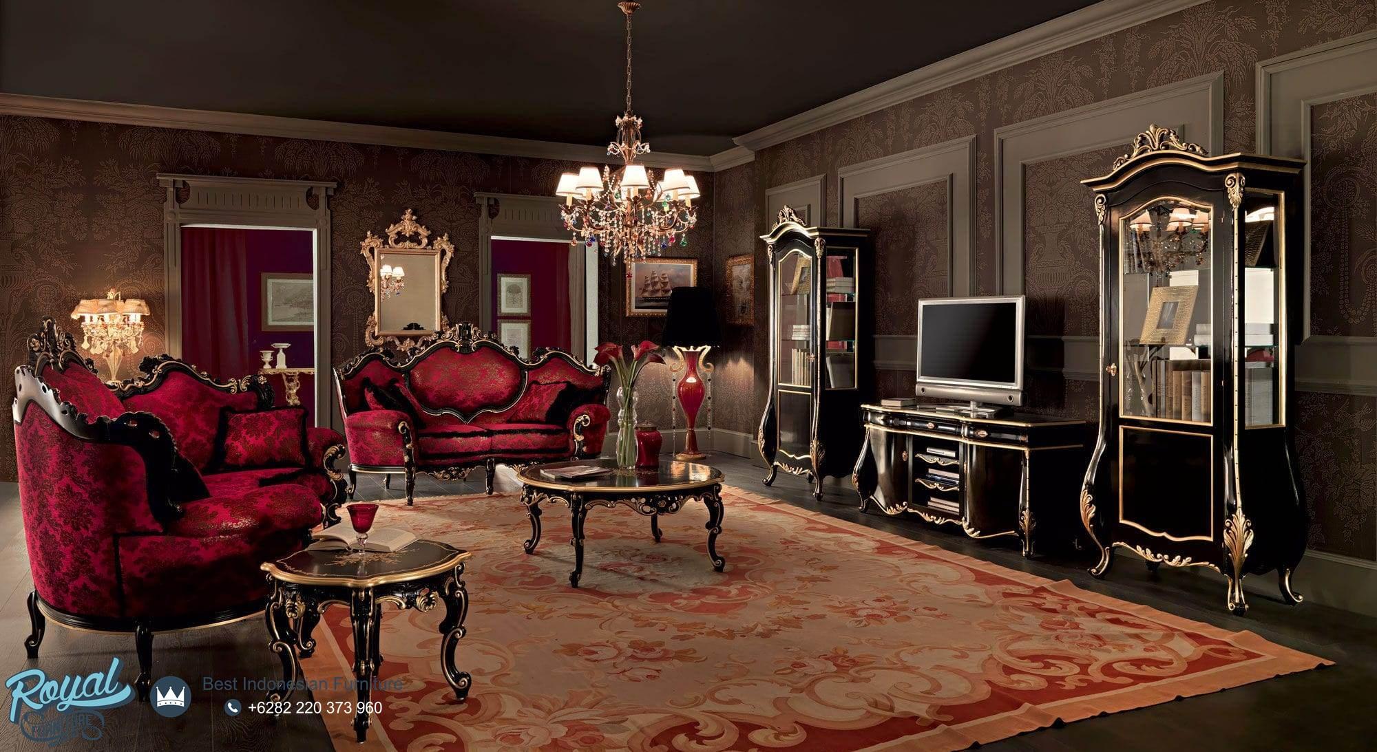 Bufet Tv Klasik Ruang Tamu Mewah Terbaru Villa Venezia Royal  # Teodora Muebles
