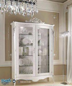 Almari Hias Putih Cantik Mewah Terbaru Glamour