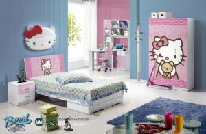 Set Kamar Tidur Anak Mebel Jepara Mewah Terbaru Hello Kitty