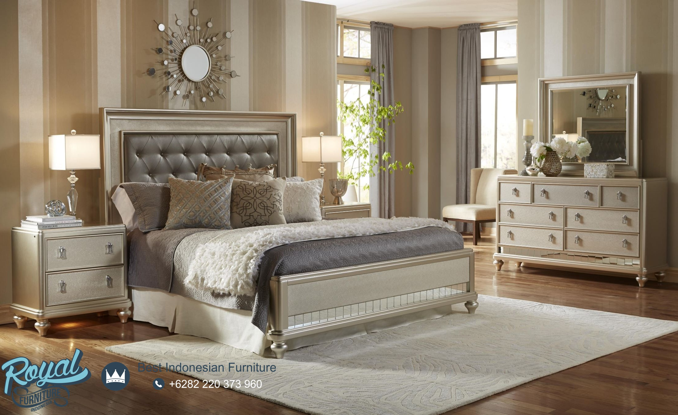 Kamar Set Tidur Minimalis Modern Mewah Terbaru California Royal