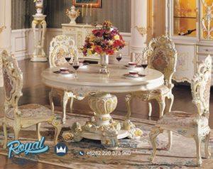 Meja Makan Set Ukiran Klasik Mewah Terbaru Barokko