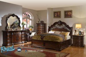 Set Tempat Tidur Jati Natural Klasik Modern Mewah Terbaru Cassabela