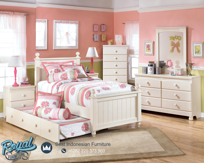 set tempat tidur anak perempuan minimalis mewah terbaru frozen