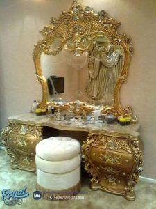 Meja Rias Mewah Ukiran Classic Gold Duco Terbaru