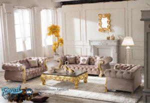 Sofa Tamu Mewah Set Luxury Neo Classic Gold Duco Terbaru
