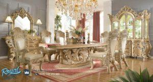 Set Meja Makan Mewah Ukiran Classic Royal Kingdom Terbaru