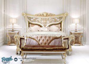 Set Tempat Tidur Ukir Mewah Klasik Jepara Raflesia Terbaru