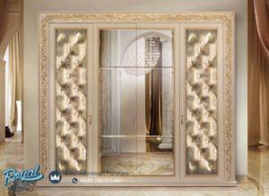 Lemari Pakaian 4 Pintu Minimalis Mewah Klasik Turkis Furniture Terbaru