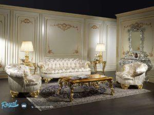 Kursi Sofa Ruang Tamu Set Klasik Gold Mewah Eropan Ukiran Jepara Terbaru