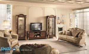 Set Bufet Tv Mewah Arredo Classic Furniture Ukir Jepara Terbaru