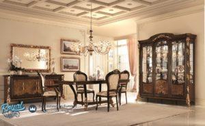 Set Ruang Meja Makan Mewah Arredo Classic Furniture Ukir Jepara Terbaru