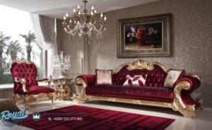 Sofa Tamu Set Mewah Ukiran Klasik Jepara KING Royal Jumbo Terbaru