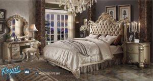 Bedroom Set Tempat Tidur Mewah Gold Ukir Klasik Jepara Terbaru