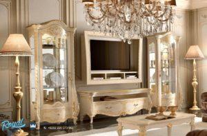 Set Bufet Tv Terbaru Mewah Portofino Klasik Ukir Jepara Terbaru