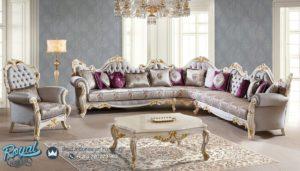 Set Sofa Tamu Ruang Keluarga Sudut Mewah Ukir Jepara Terbaru