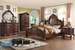 Set Kamar Tidur Jati Ukir Jepara Rubber Wood Bedroom Terbaru