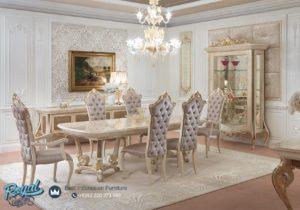 Set Meja Makan Mewah Modern Italian Furniture Jepara Terbaru