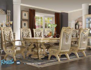 Set Meja Makan Mewah Terbaru Victorian Classic Ukir Jepara