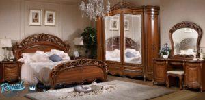 Set Tempat Tidur Mewah Jati Terbaru