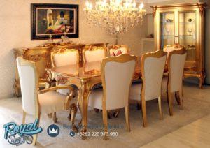 Set Meja Makan Mewah Gold Duco Klasik Takimi Terbaru