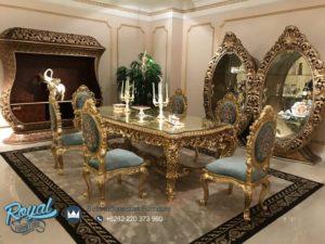 Set Meja Makan Super Mewah Klasik Gold Terbaru