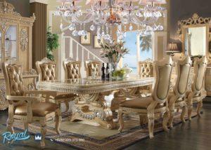 Meja Makan Mewah Set Ukir Jepara Homey Design Terbaru