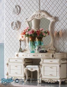 Meja Rias Mewah Modern Putih Duco Italian Furniture Terbaru