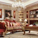 Set Sofa Tamu Mewah Klasik Eropa Jackson Kayu Jati Terbaru