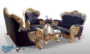 Sofa Tamu Mewah Belagio Ukiran Klasik Jepara Terbaru