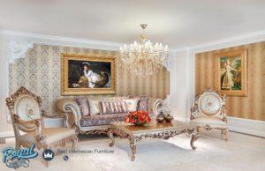 Sofa Tamu Mewah Klasik Gold Chester Terbaru
